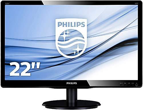 Philips 220V4LSB/00 55,9 cm (22 Zoll) Monitor (VGA, DVI, TN Panel, 5ms Reaktionszeit, ohne Lautsprecher) schwarz