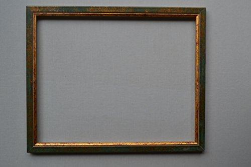Vogel Design Bilderrahmen Nepal - Grün Gold 30x40cm 40x30cm hier mit entspiegeltem Kunstglas