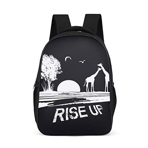 Mochila Rise Up Design Bookbag multifunción Daypack portátil para hombres y mujeres, color, talla Talla única