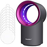 Tuzeasa Mosquito Traps, Indoor Insect Trap,with 5 Sticky Glue Boards Mosquito Eradicator (Zap T3 Pro,Grey/Fuchsia)