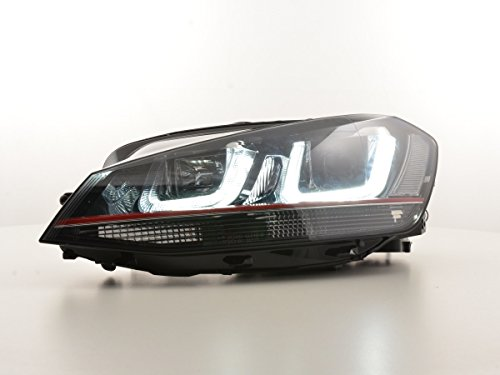 Dagrijverlichting koplamp daglicht VW Golf 7 bouwjaar vanaf 2012 zwart/rood