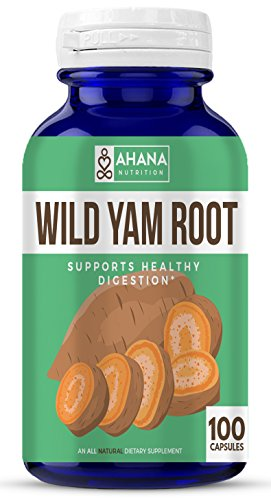 Wild Yam Root Capsules by Ahana Nutrition - Dioscorea Villosa, Wild Yam Root Supports Women's Health, PMS, Hormone Balance and Healthy Digestion* (850mg Per Serving– 100 ct)