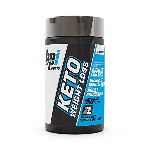 BPI Sports Keto Weight Loss - Ketogenic Fat Burner - Keto Weight Loss Pills - Raspberry ketones - Supports Mental Focus - Promotes Endurance - Burn Fat for Fuel - 75 Capsules 1
