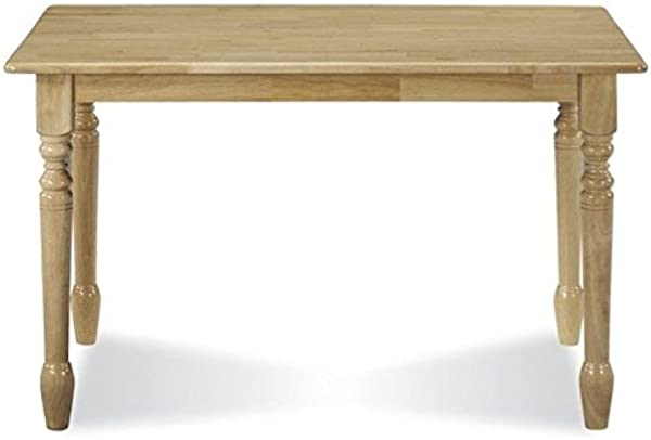 Pemberly Row Solid Casual Dining Table In Natural Brown