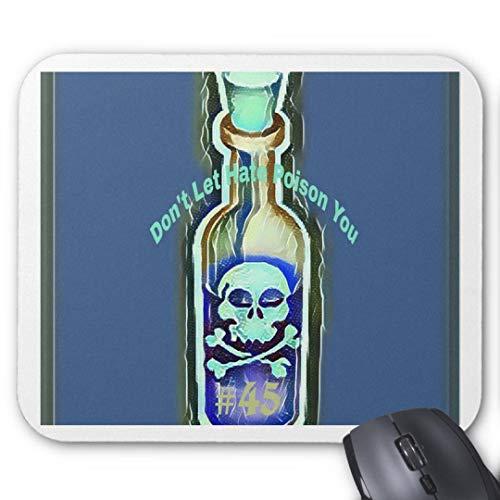 Mauspad mit seidenweicher Textiloberfl?che - Mouse Pad Paradise (antistatische Wirkung - perfekte Gleiteigenschaft PC / Computer Mousepad)-Anti Hass Zitat giftig 45 Medizin Flasche