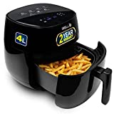 iBELL Premium Air Fryer with 7 Presets & Smart Rapid Air Technology Touch Control And Digital Display with Auto timer shut-off Capacity: 4 Litre | Power: 1400W | Supply: 220 ~ 230V | Advanced Timer Function & Temperature Control Function Preparing Fo...