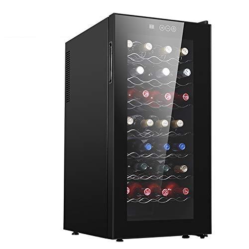 CLING Refrigerador de Vino de Doble Zona Independiente de 32 Botellas con Doble Capa Puerta de Vidrio Templado de Toque Inteligente Ahorro de energía Funcionamiento silencioso