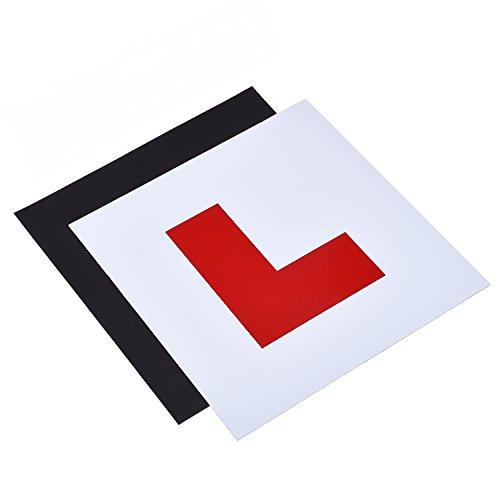 Pack de 2 placas magnéticas con texto «L» para conductores nóveles