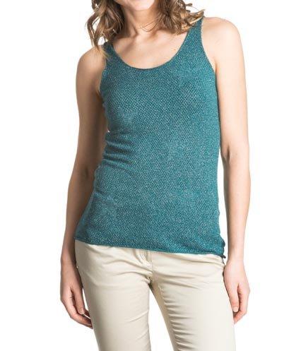 Laura Moretti - Camiseta de Punto de Tirantes Calada con Estampado de Estrellas