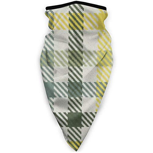 Nonebrand Four Color Bayeux Palette Gingham Plaid Green Magic Headwear Unisex Variety Scarf Wrap Bandanna Headwear Neck Gaiters Head Scarf Face Sun Masks