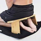 Banco de Meditación de Rodillas con Patas de Banco de Meditación de Bambú Plegables, Silla de Rodillas, Taburete de Yoga de Madera, Taburete de Rodillas Ergonómico