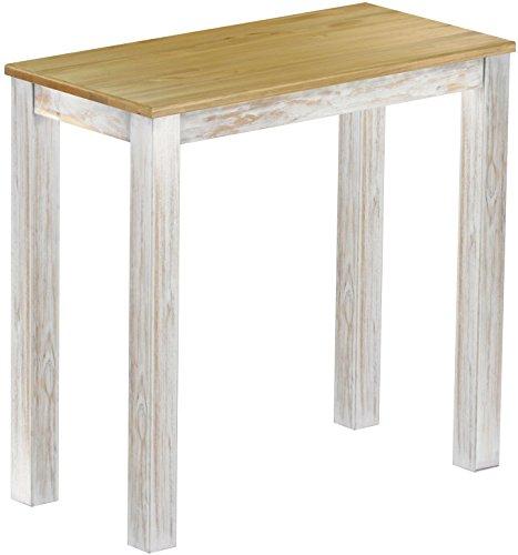 Brasil Mobili alto tavolo 'Rio classico' 115x 56cm, in legno di pino massiccio, tinta Shabby LH–Brasil