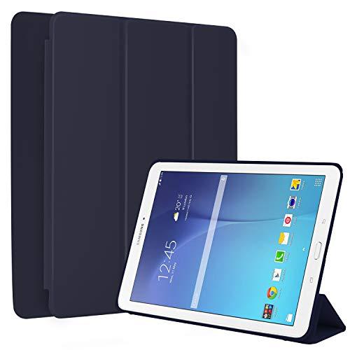 N NEWTOP Cover Compatibile per Samsung Galaxy Tab E 9.6 SM-T560 / T561, Custodia Flip Smart Libro Ori Case Ultra Sottile Leggera Stand Supporto Funzione Wake/Sleep Simil Pelle (Blu)