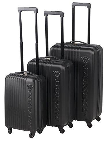 Dunlop Travel Laptop Rollkoffer, 120 Liter, Schwarz