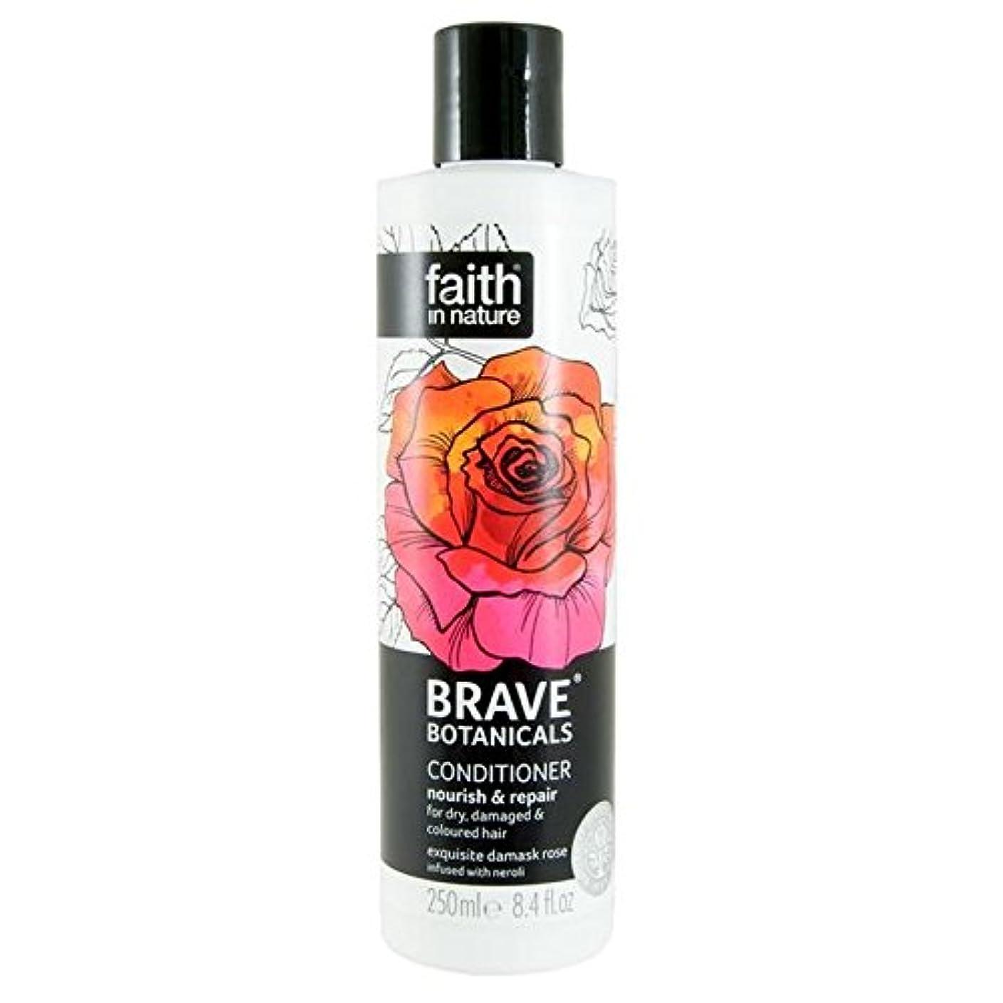 リットルオズワルド繁栄Brave Botanicals Rose & Neroli Nourish & Repair Conditioner 250ml (Pack of 4) - (Faith In Nature) 勇敢な植物は、ローズ&ネロリは養う&リペアコンディショナー250Ml (x4) [並行輸入品]