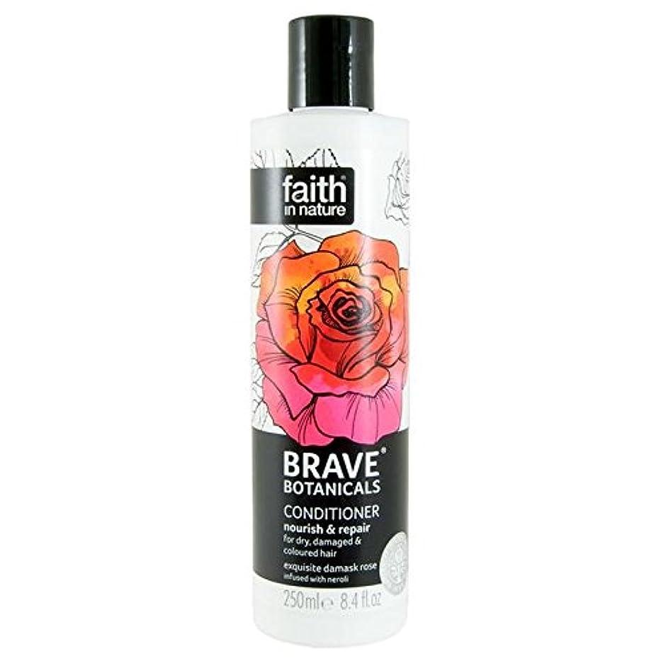 コメンテーターブラインドすばらしいですBrave Botanicals Rose & Neroli Nourish & Repair Conditioner 250ml (Pack of 4) - (Faith In Nature) 勇敢な植物は、ローズ&ネロリは養う&リペアコンディショナー250Ml (x4) [並行輸入品]