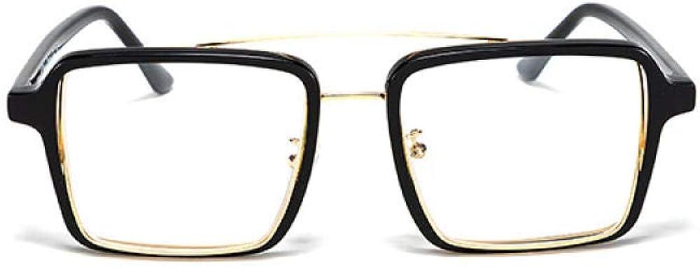 hqpaper Lunettes décoratives carrées Shenzhen explosion lunettes de soleil optiques Gold Black And White Film