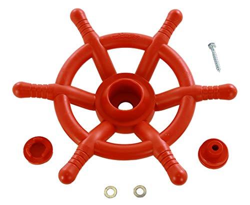 bambus-discount.com Steuerrad rot für Spielturm, Durchmesser 35cm - Kinderspielgeräte für Garten, Spielgeräte für Kinder, Spielturm, Spieltürme