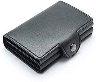 Men and women double Aluminum Wallet Credit Card Holder Metal with RFID Blocking Multifunction purse