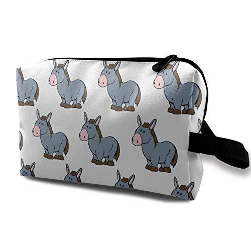 XCNGG Bolsa de cosméticos para jóvenes Exquisitas bolsas de maquillaje de viaje Bolsas de aseo multifunción Caballos lindos