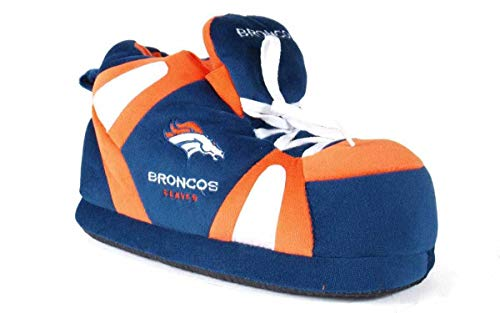 DEN01-4 - Denver Broncos - XL - Happy Feet & Comfy Feet NFL Slippers