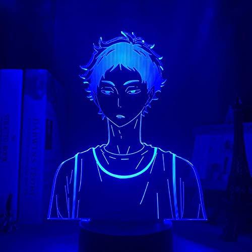 3D Nachtlicht Anime Dekor Lampen Haikyuu Keiji Akaashi LED-Lampe für Schlafzimmer Dekor Nachtlicht Kinder Kind Geburtstagsgeschenk Haikyu Akaashi 3D-Lampe USB 16 Farben Remote und Touch HYKK