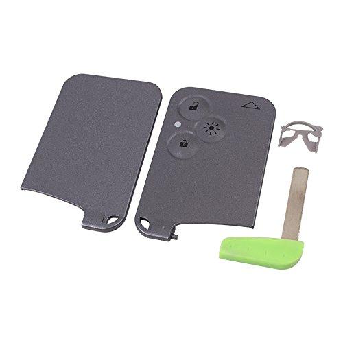 topone1 Para Renault Smart Key Card 3 botón de repuesto caso Keyless Fob remoto coche clave Shell para Renault Laguna Espace