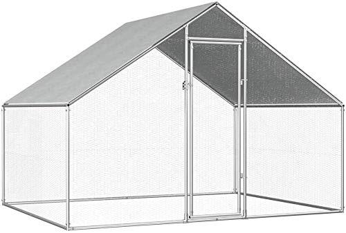 Le piccole gabbie degli animali gabbia di uccello gabbie di fuga che ospitano il pollaio esterna voliera con coop,Galvanization