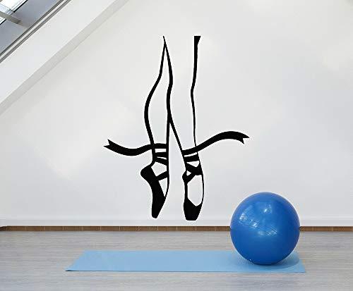 Yaonuli kinderen vinyl muur applicatie ballet kant ballerina dans pose benen meisjes kamer muursticker moderne wanddecoratie