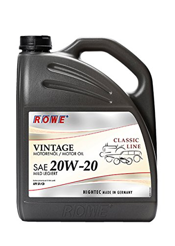 ROWE Hightec Vintage SAE 20W-20 mild legiert - 5 Liter Oldtimer, Youngtimer Motoröl, mineralisch | Made in Germany