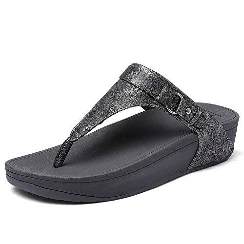 Unisex badslippers,Hoekige teenslippers voor dames, antislip sandalen met dikke bodem en pantoffels-grey_38