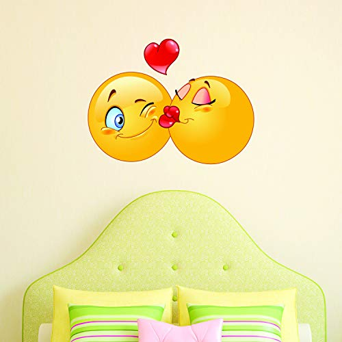 Kussen Emoji Wall Decal Kids Wall Sticker Emoticon