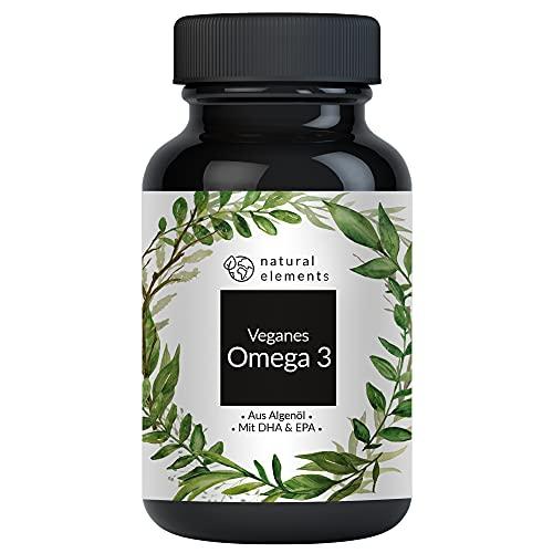 Omega 3 vegan - Premium: Mit EPA und DHA aus Algenöl (in Triglycerid-Form) - Laborgeprüft, nachhaltig und von Natur aus schadstoffarm - 90 Kapseln