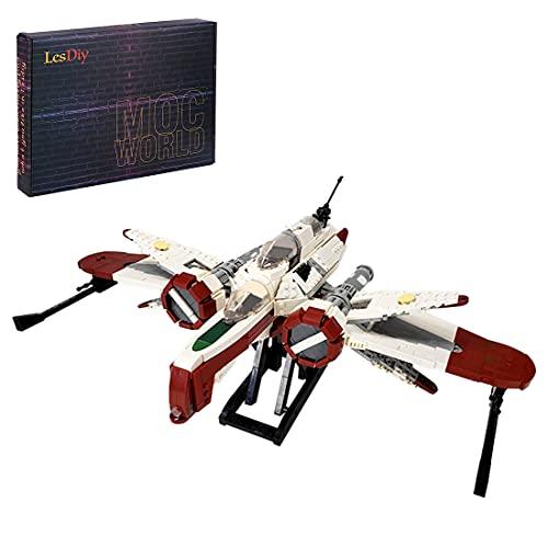BANDRA Star Wars Vaisseau Spatial 1654 pièces ARC-170 Interstellaire Vaisseau Star Trek Combattant Jeu de Construction Modèle Compatible avec Lego
