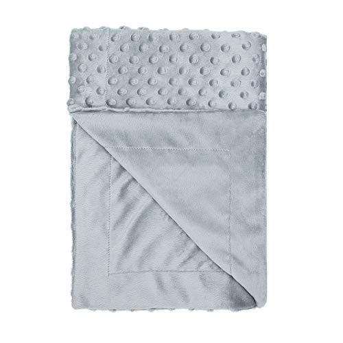 Toddler Soft Baby Blanket Minky Dot- Girls Boys Crib Blankets