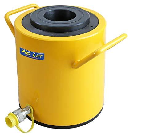 Pro-Lift-Gereedschappen 100 t holle kolf hydraulische cilinder zuigerslag 75 mm hydraulische pomp werkcilinder 100000 kg drukkracht heavy duty lift 100t
