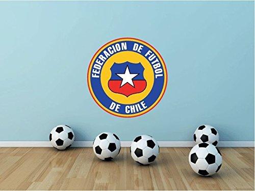 lunaprint Chile National Team Soccer Football Sport Home Decor Art Wall Vinyl Sticker 55 x 55 cm