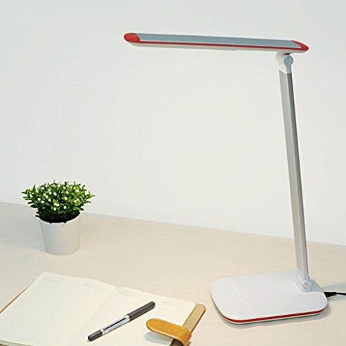 LED tafellamp oogbescherming 7W dimbaar met dimmer 5 draden dimmer geheugenfunctie (kleur: wit)