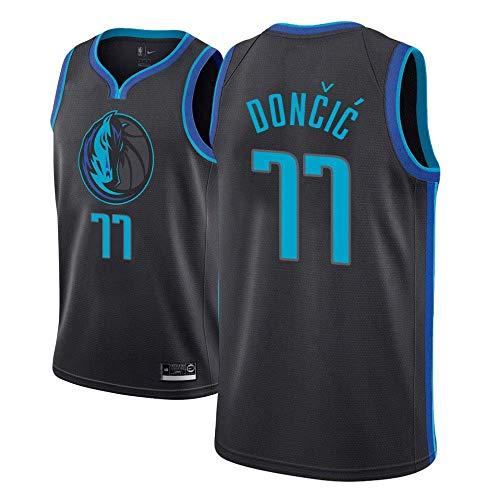 Luka Doncic Dallas Mavericks # 77 Transpirable Baloncesto Chaleco c/ómodo Pilang Alero de Baloncesto Jersey