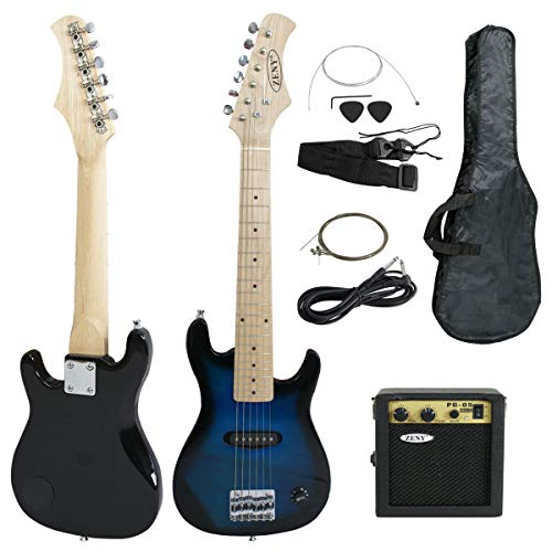 ZENY 30 inch Kids Electric Guitar with 5w Amp, Gig Bag, Strap, Cable, Strings and Picks Guitar Combo Accessory Kit