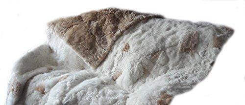 Alpacaandmore Beidseitige Peruanische Suri Alpakafell Decke, Tagesdecke (160 x 200 cm)