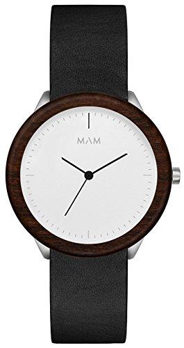 MAM Originals · Stainless Light Teak Black   Reloj de Hombre   Diseño Minimalista   Creado con Madera de Teca sostenible y Acero Inoxidable Reciclado