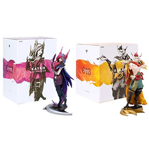 civaza Für die League of Legends Figure, Spiel für Legenden der Legenden Geschenk/Xayah XL/Rakan XL-Figuren (Sammlung)