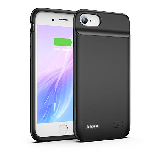 Battery Case for iPhone 8 7 6s 6 SE 2020(2nd Generation), 3200mAh Charging Case Portable Protective Charger Case for iPhone 8 7 6s 6 SE 2020(2nd Generation) (4.7inch) (Black)