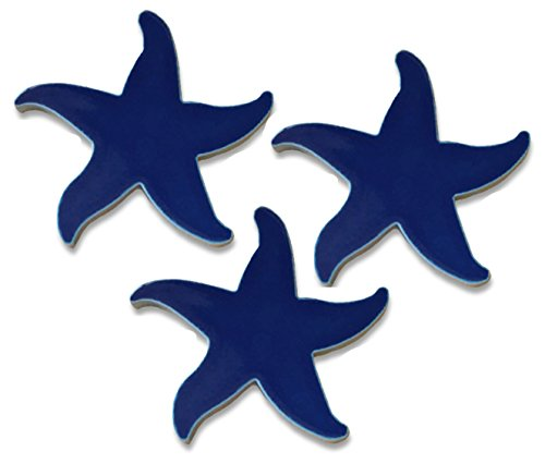 Aquatic Custom Tile 5' Porcelain Starfish Mosaic - Cobalt Blue - Pack of 3
