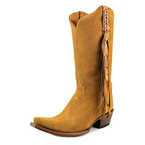 Lucchese Women's Tori Hand Tooled Feather Cowgirl Boot
