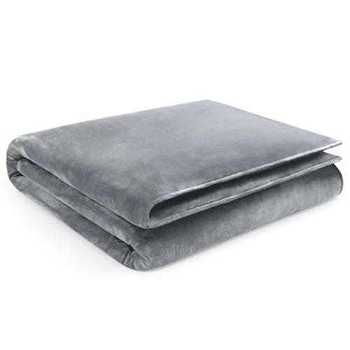 Restorology Weighted Blanket - Ultra Plush Blanket - Multiple Sizes for Children & Adults - 18LB - 60' x 80'- Gray