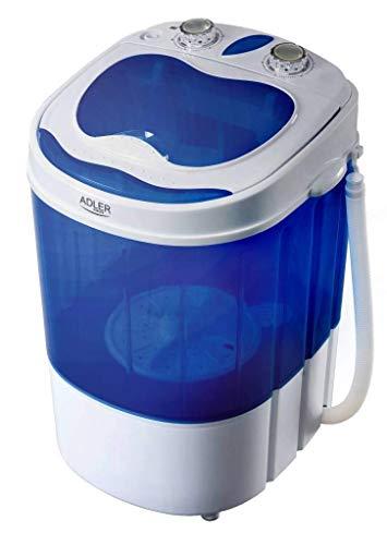Adler ad 8051 - Lavadora (Portátil, Carga superior, Azul, Blanco, Giratorio, Arriba, 3 kg) 360x370x530 cm