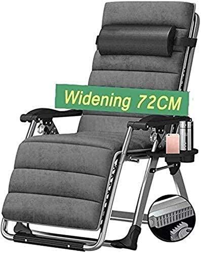 Tumbona, sillas de salón clásicas Tumbona/Sillas reclinables para Patio Mecedora Grande para Adultos Patio al Aire Libre de Gravedad Cero para Personas Pesadas - Barra Plegable reclinable para pór
