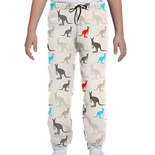Yesbnow Jugend Jogginghose Jogging Bottom Sport oder Loungewear Hose, Australien Kangaroos Trainingsanzug Bottoms für Jungen Mädchen Teenager